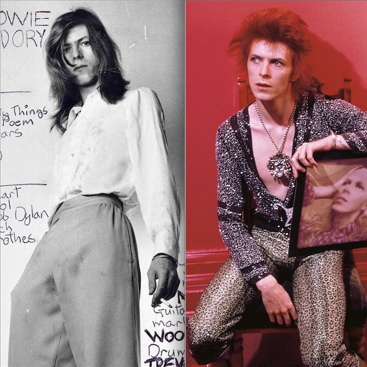David Bowie, album sleeves, pop music, Hunky Dory, Space Oddity, TV doc, review,