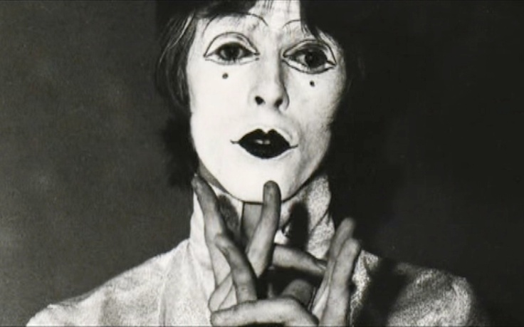 David Bowie , Feathers, Lindsay Kemp, mime,
